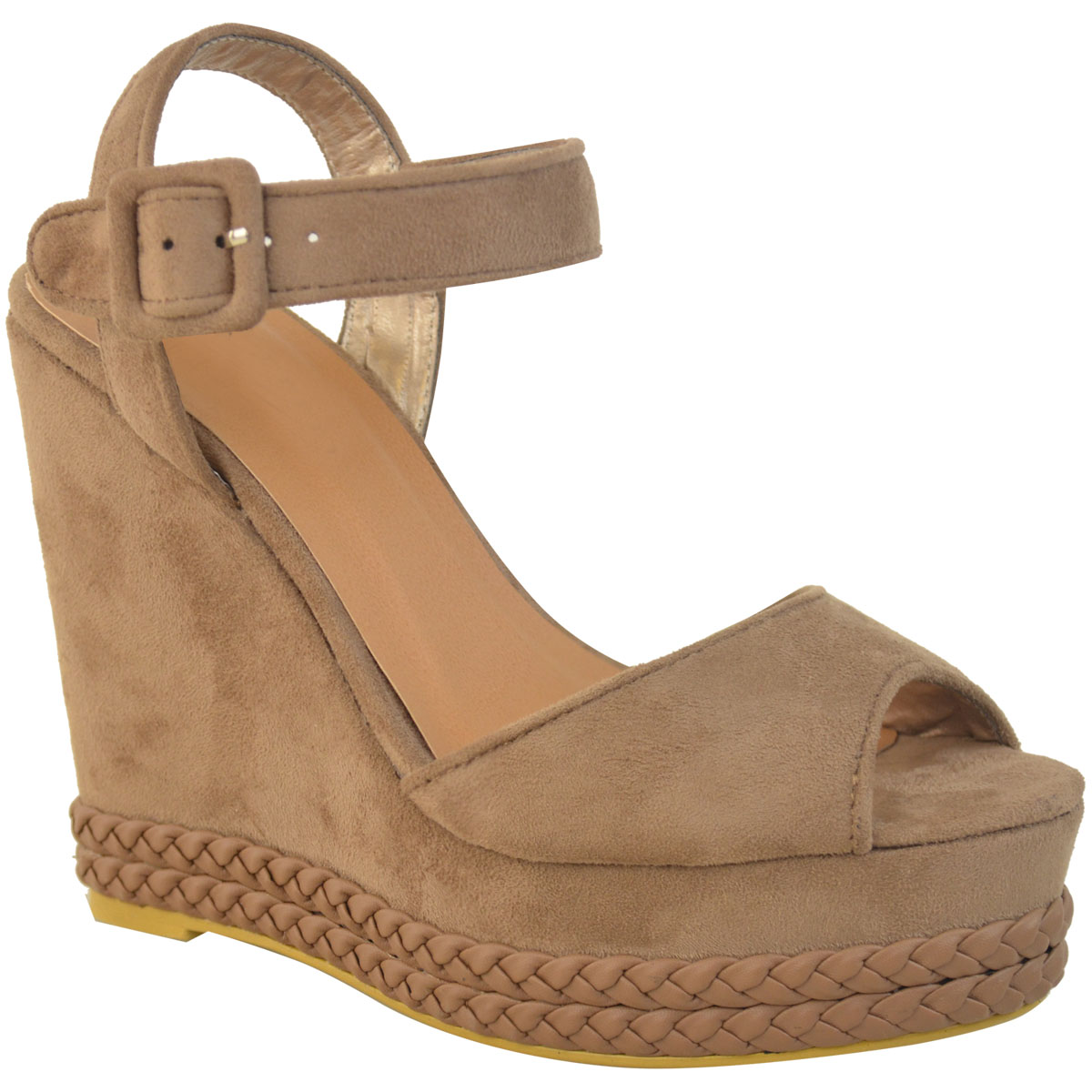 Womens Ladies Studded Wedge Sandal Rock Espadrille ...