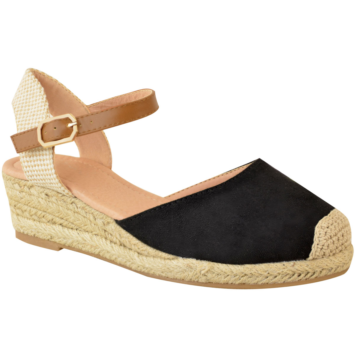 Womens Ladies Low Heel Wedge Espadrilles Summer Sandals Casual Holiday Size New