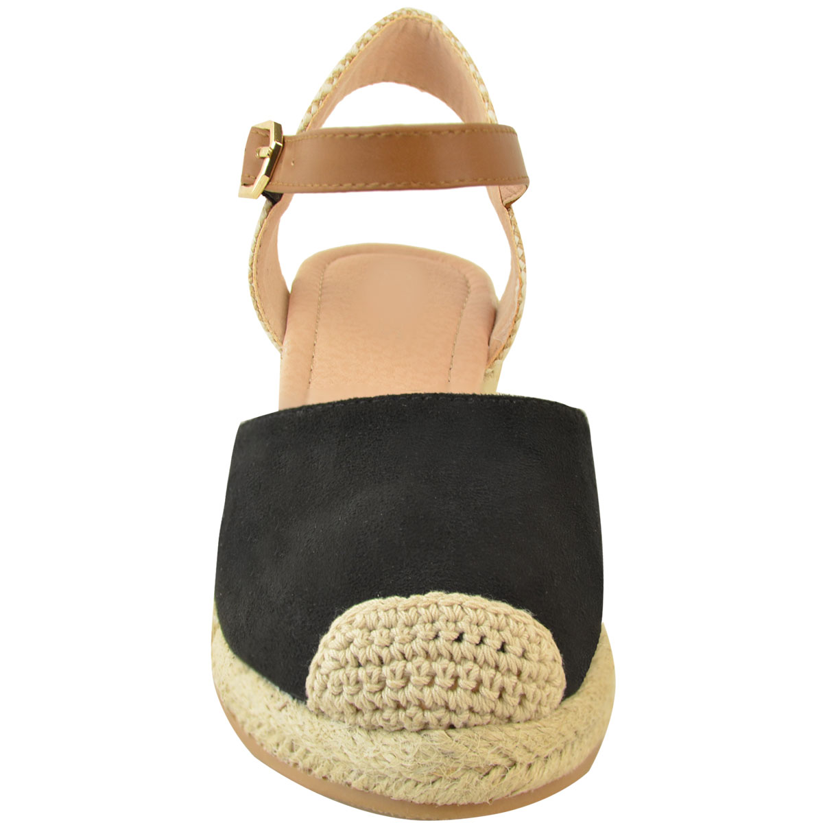 Details about Womens Ladies Low Heel Wedge Espadrilles Summer Sandals Casual Holiday Size New