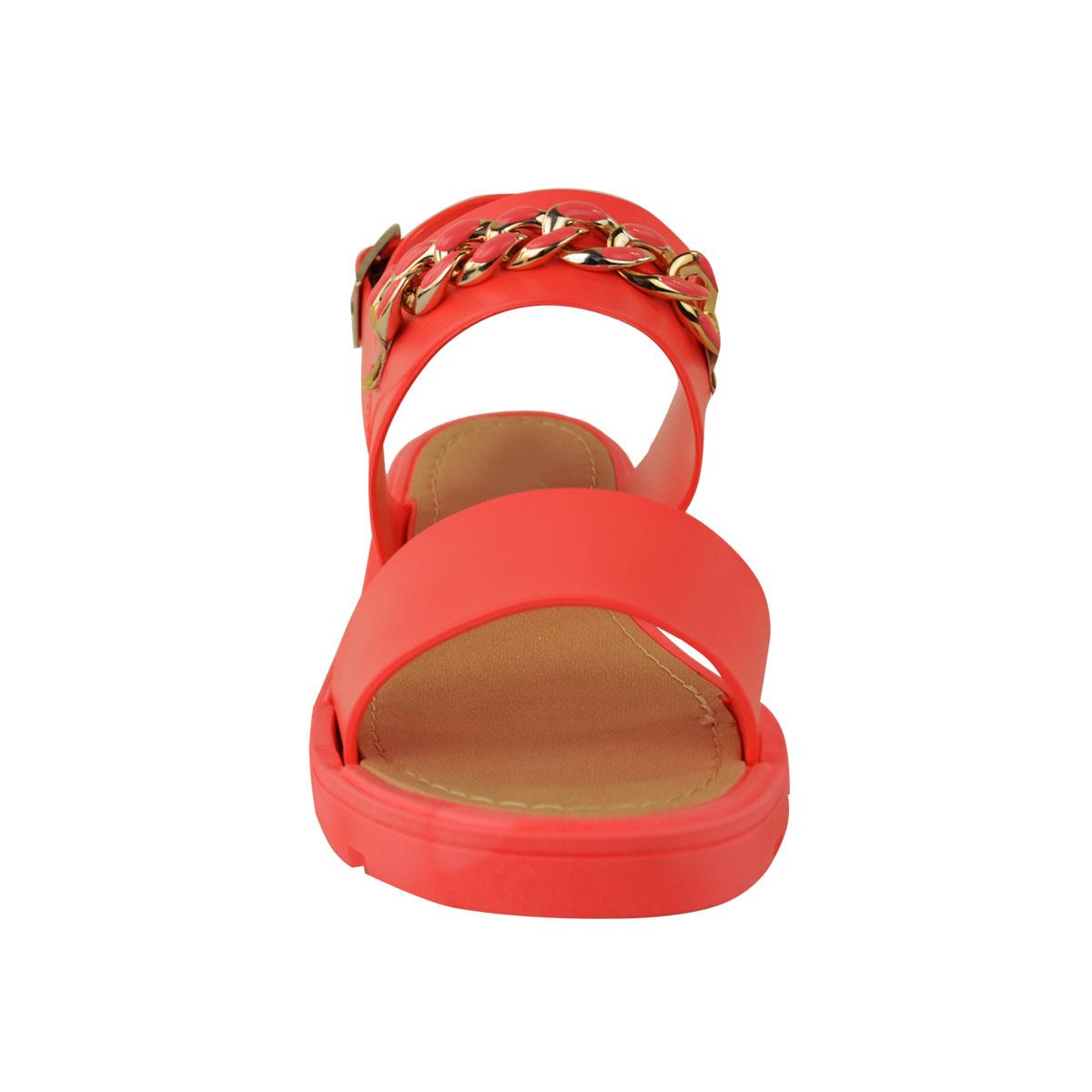 Para Mujer Damas Verano Jelly Sandalias de correa de tobillo de eslinga hebilla trasera de playa Tamaño