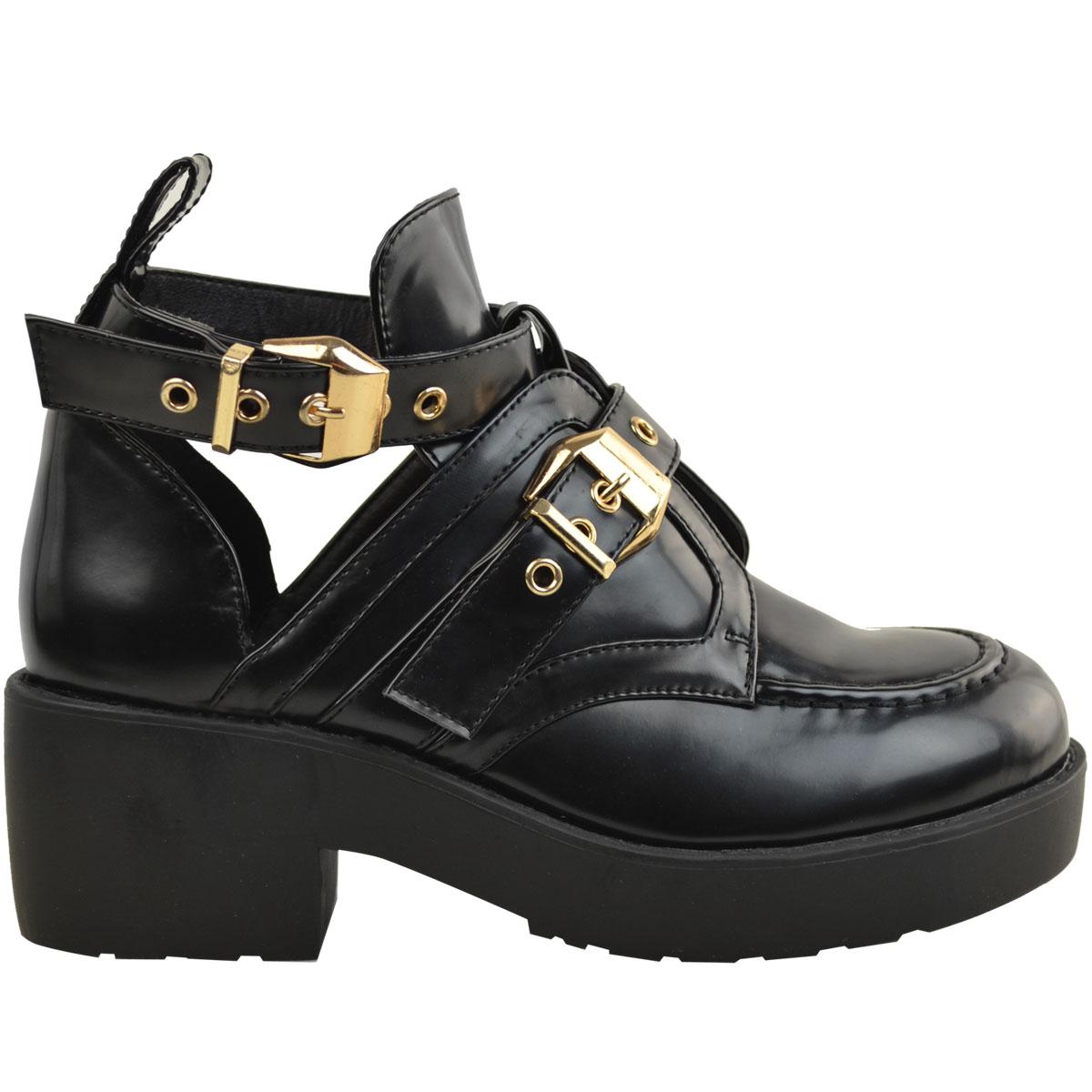 Womens Black Winter Chelsea Ankle Boots Low Block Heel Bargain Price Ladies New