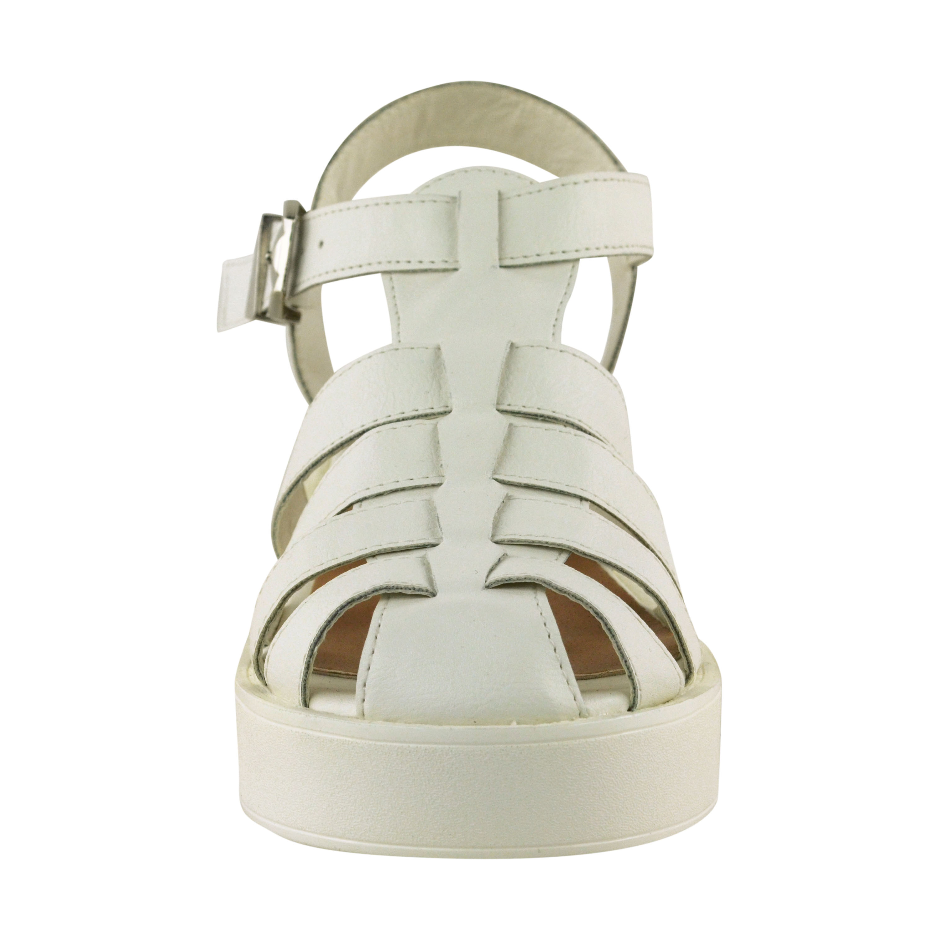 new womens chunky wedge sandals strappy low block