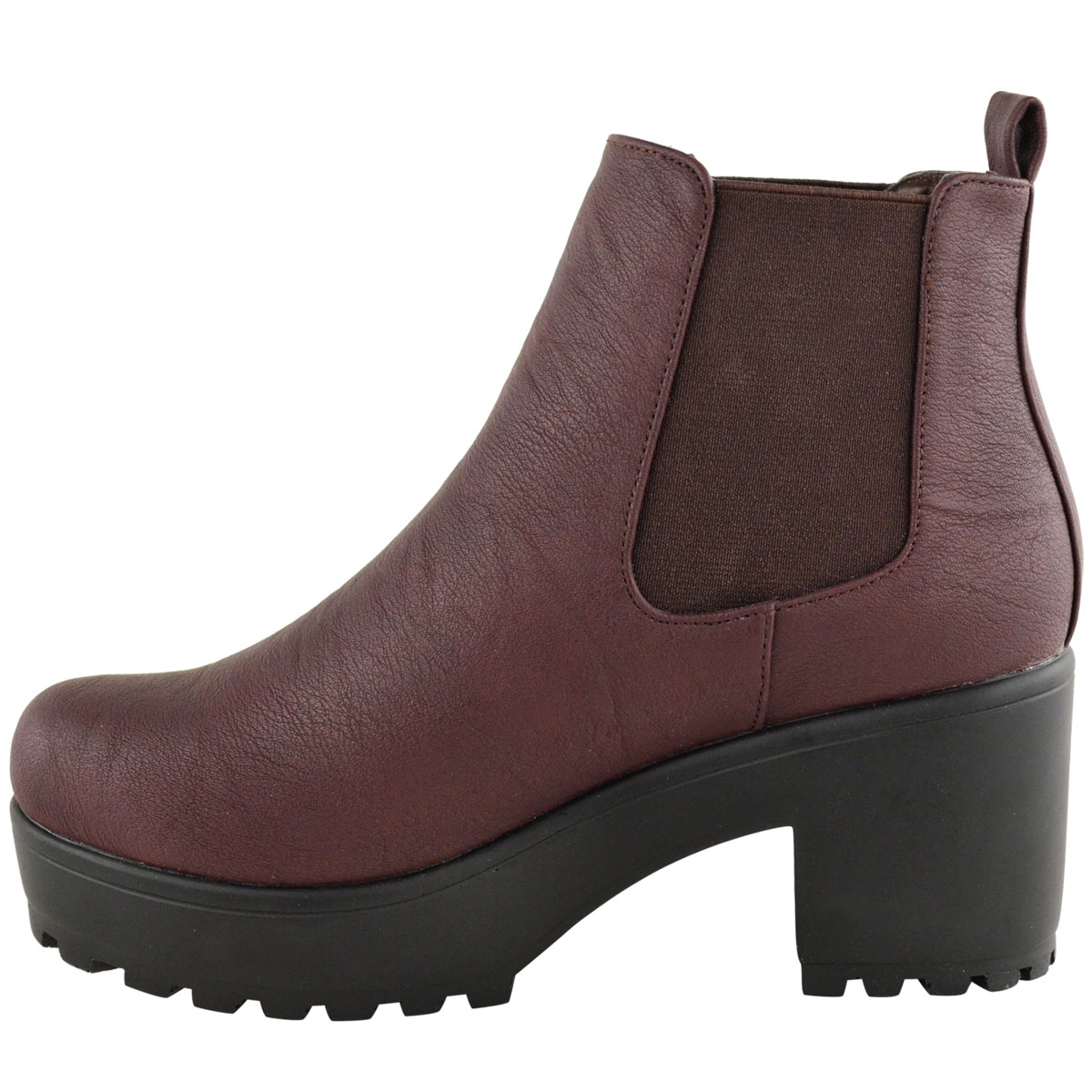 new womens chelsea ankle boot flat low mid block