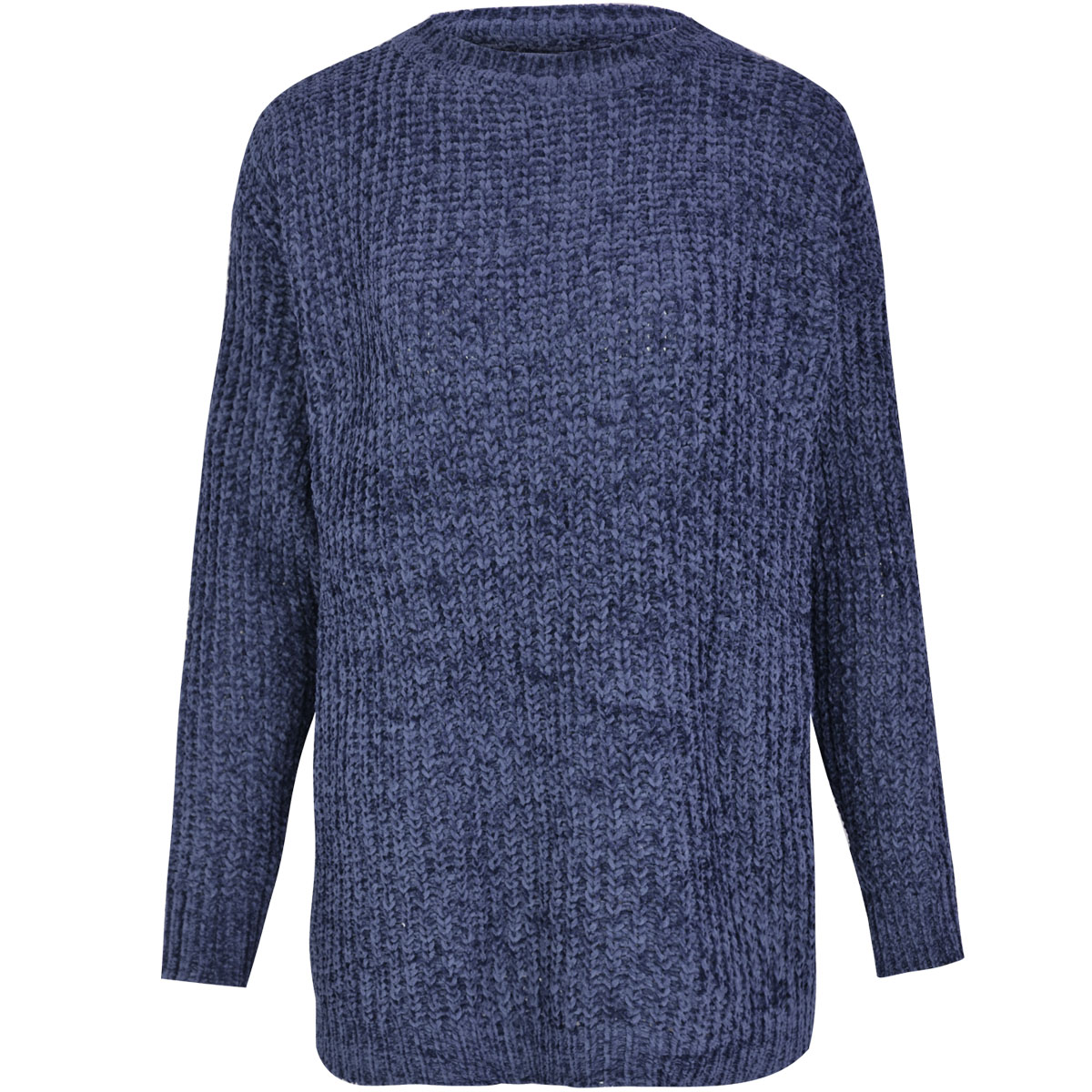 Womens Ladies Thick Jumper Chunky Knitted Soft Long Sleeve