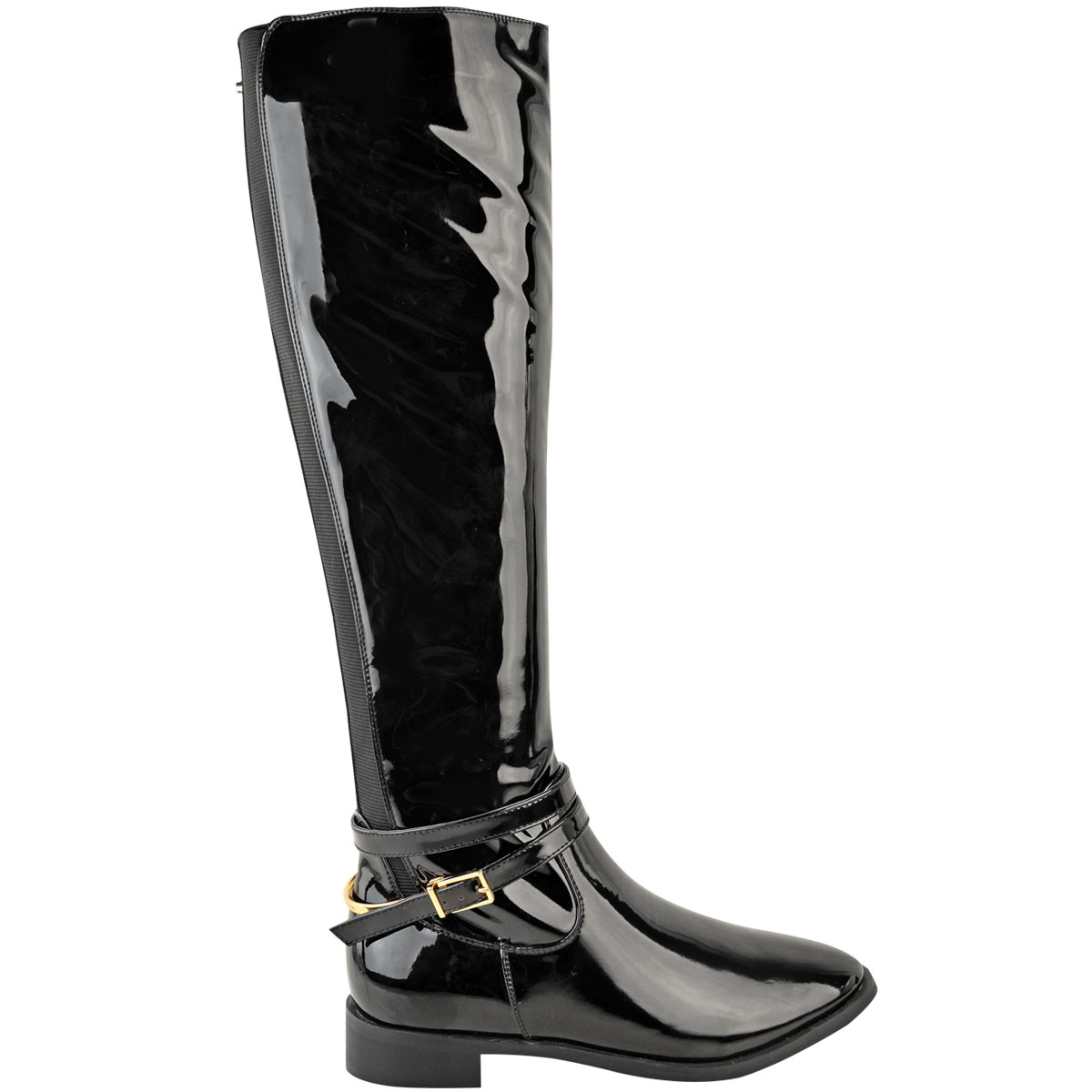 Womens-Ladies-Flat-Stretch-Knee-High-Riding-Boots-Grip-Sole-Winter-Shoes-Size-UK Indexbild 4