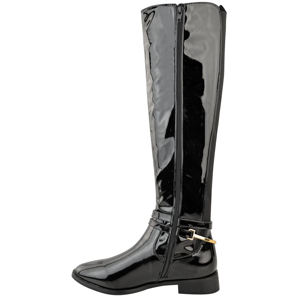 Womens-Ladies-Flat-Stretch-Knee-High-Riding-Boots-Grip-Sole-Winter-Shoes-Size-UK Indexbild 5