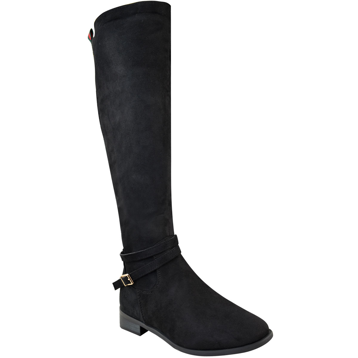 Womens-Ladies-Flat-Stretch-Knee-High-Riding-Boots-Grip-Sole-Winter-Shoes-Size-UK Indexbild 9