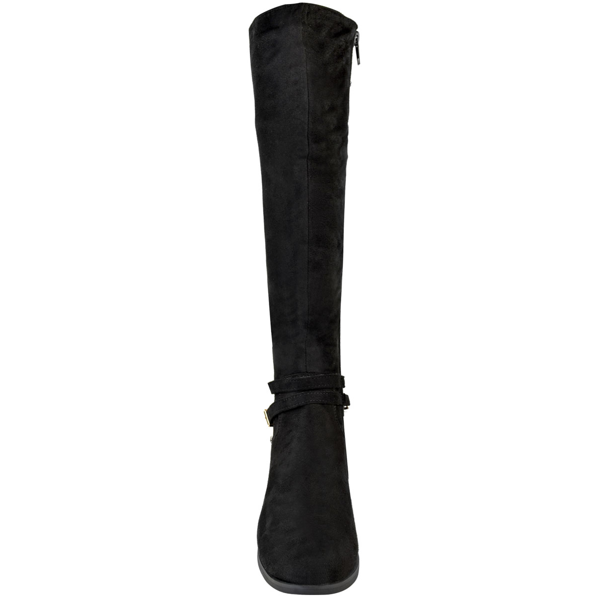 Womens-Ladies-Flat-Stretch-Knee-High-Riding-Boots-Grip-Sole-Winter-Shoes-Size-UK Indexbild 12