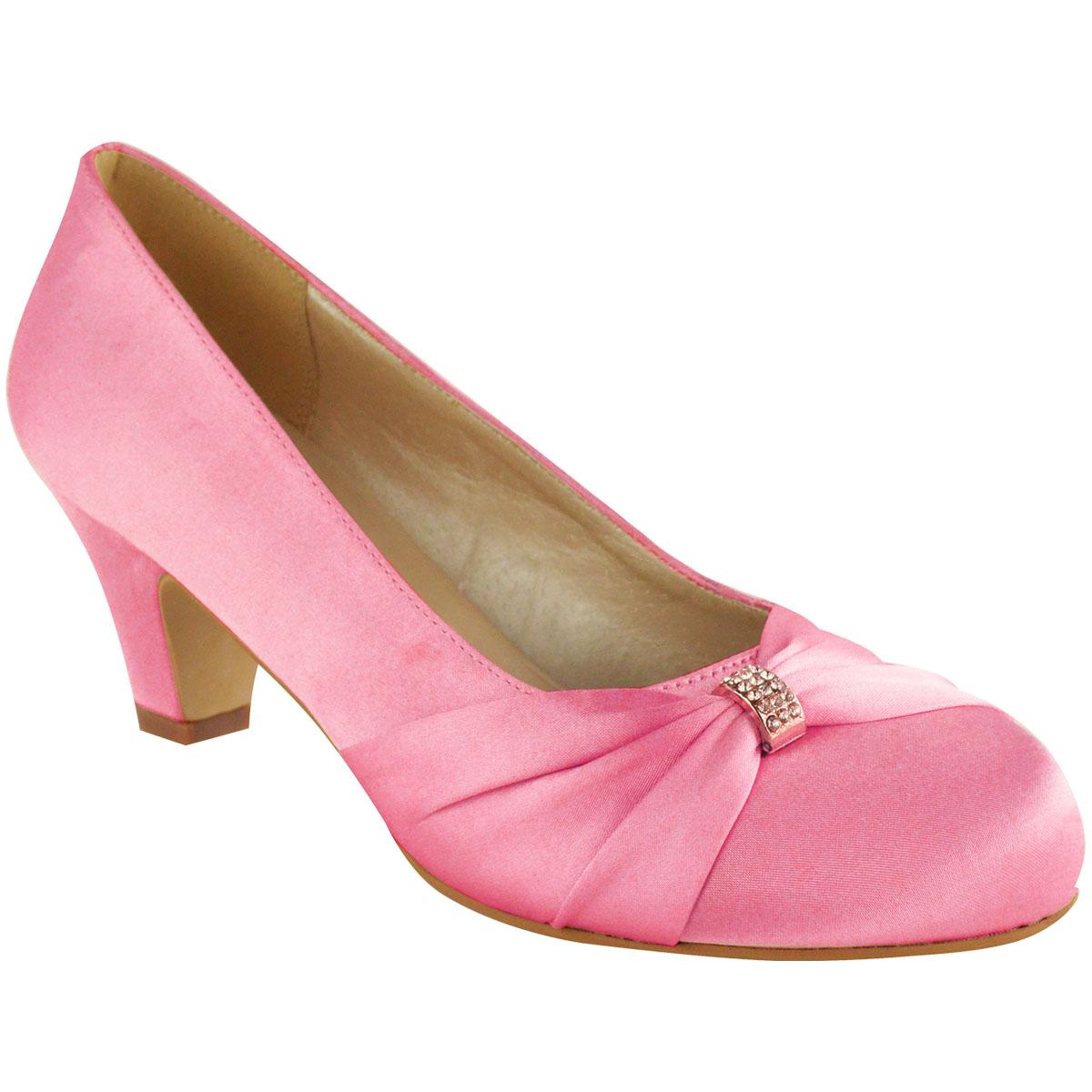 Womens Wedding Shoes Ladies Low Mid Heels Bridal