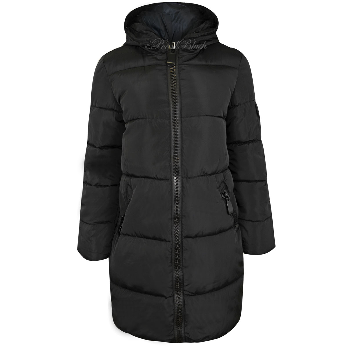 Long quilted womens winter coat