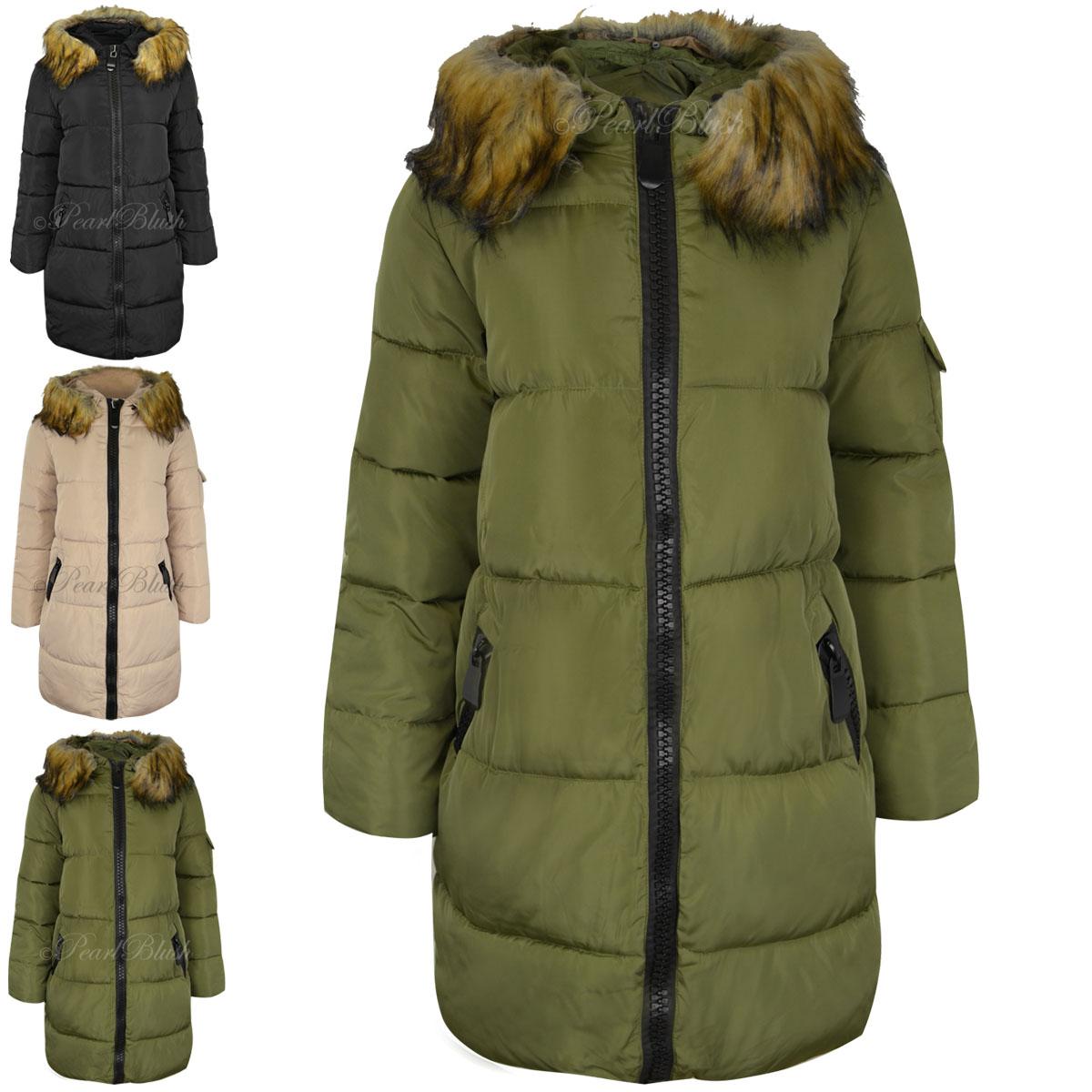 Long puffer coat for women