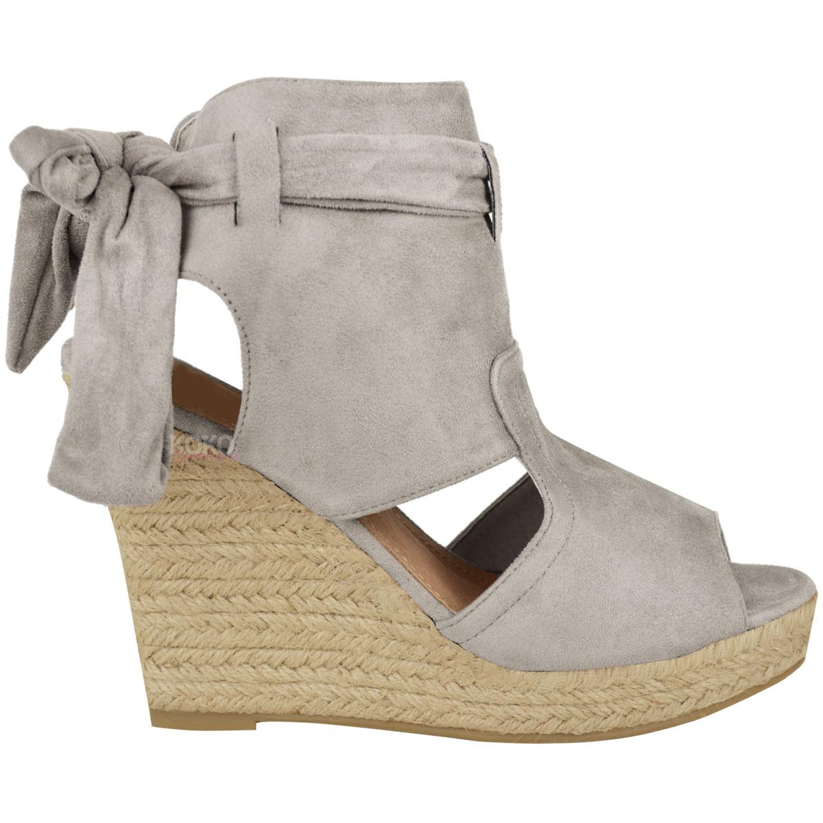 womens summer sandals high heels peep toe wedges
