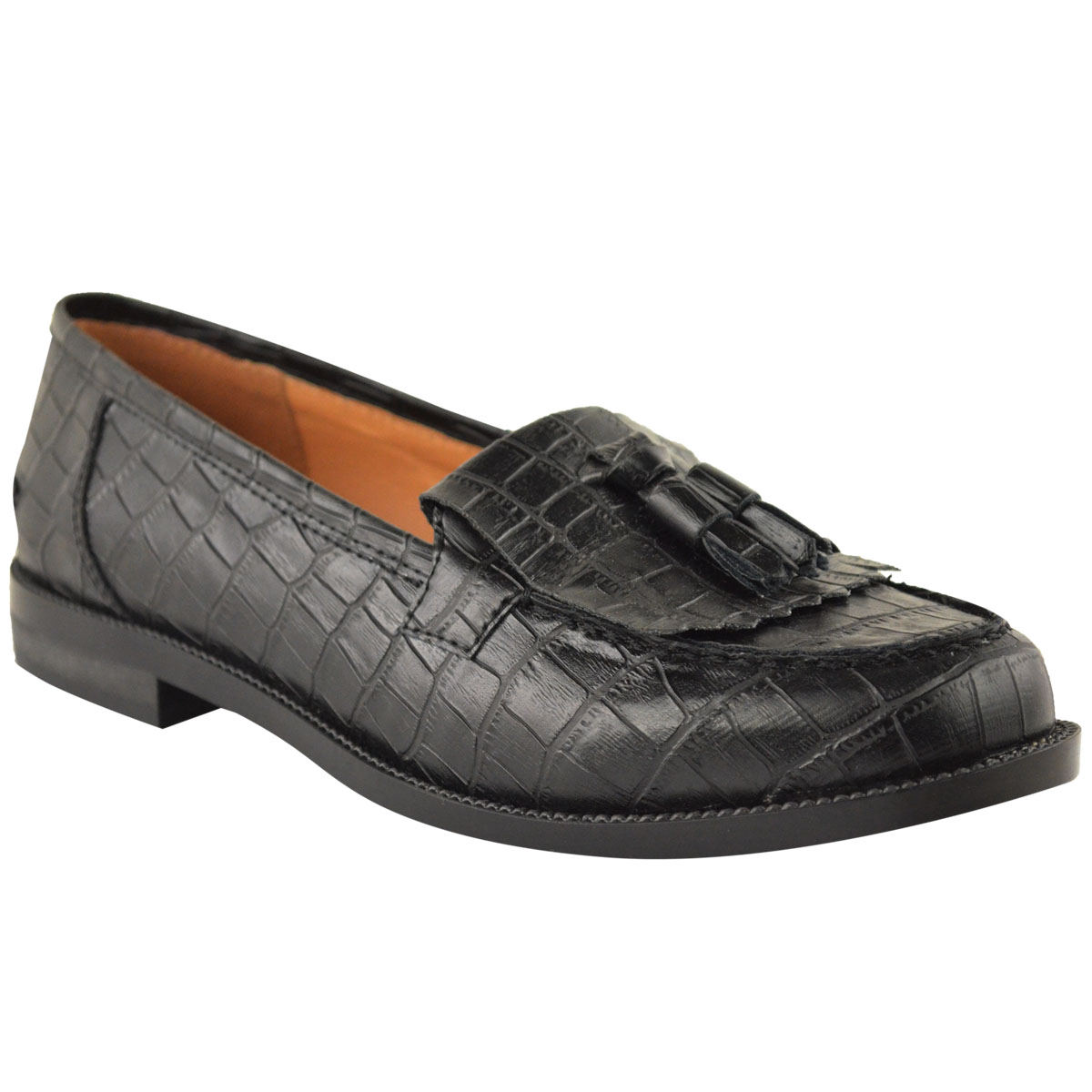 WOMENS-LADIES-OFFICE-FLAT-CASUAL-PATENT-FAUX-LEATHER-