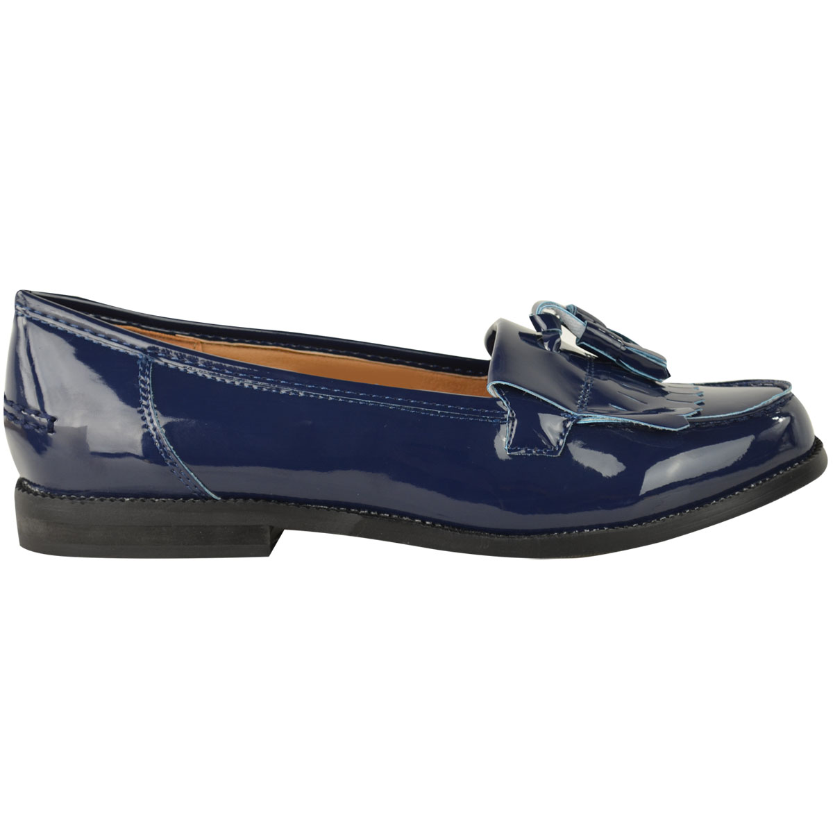 Womens-Ladies-Loafers-Brogues-Pumps-Casual-School-Office-Comfy-Work-Flats-Size thumbnail 27