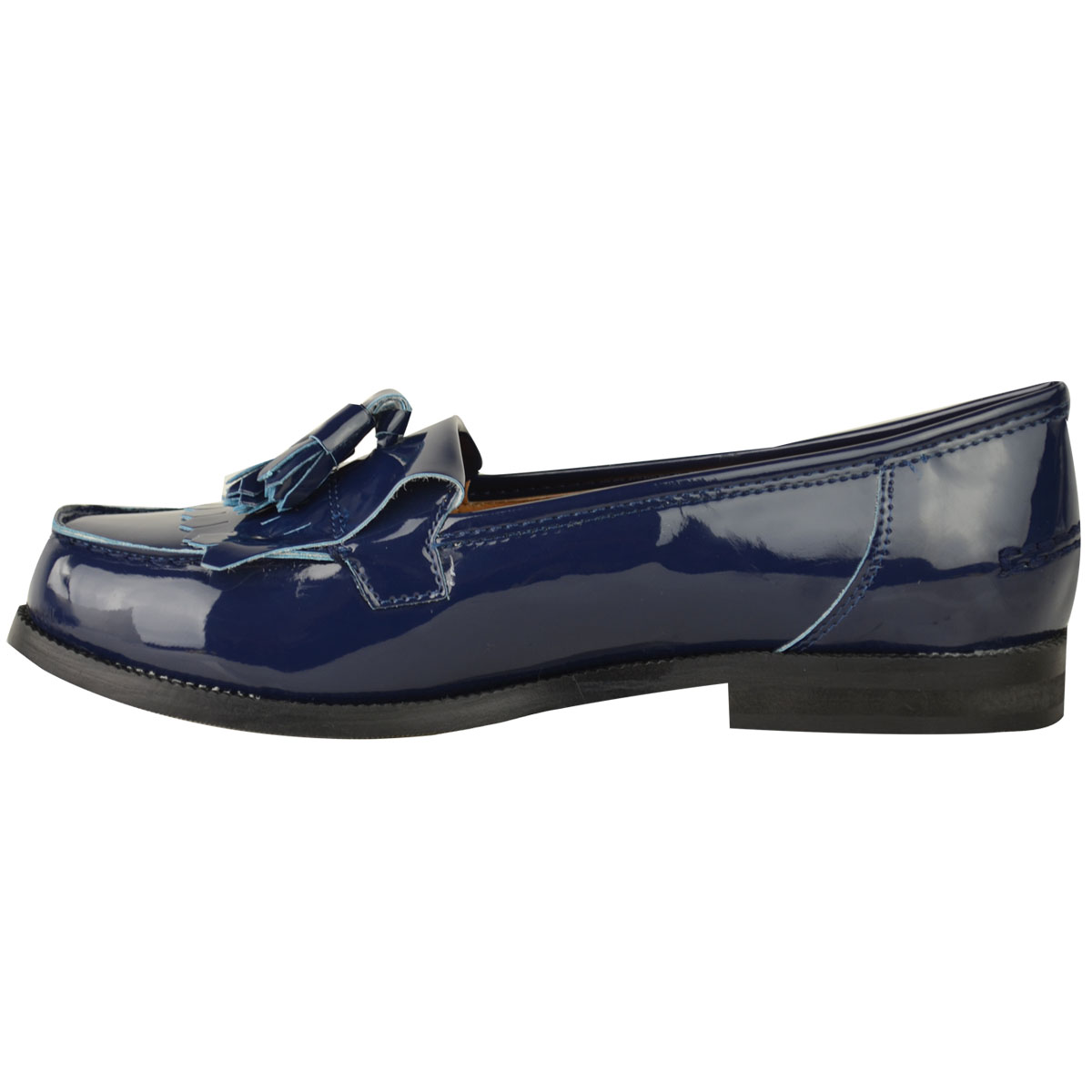 Womens-Ladies-Loafers-Brogues-Pumps-Casual-School-Office-Comfy-Work-Flats-Size thumbnail 28