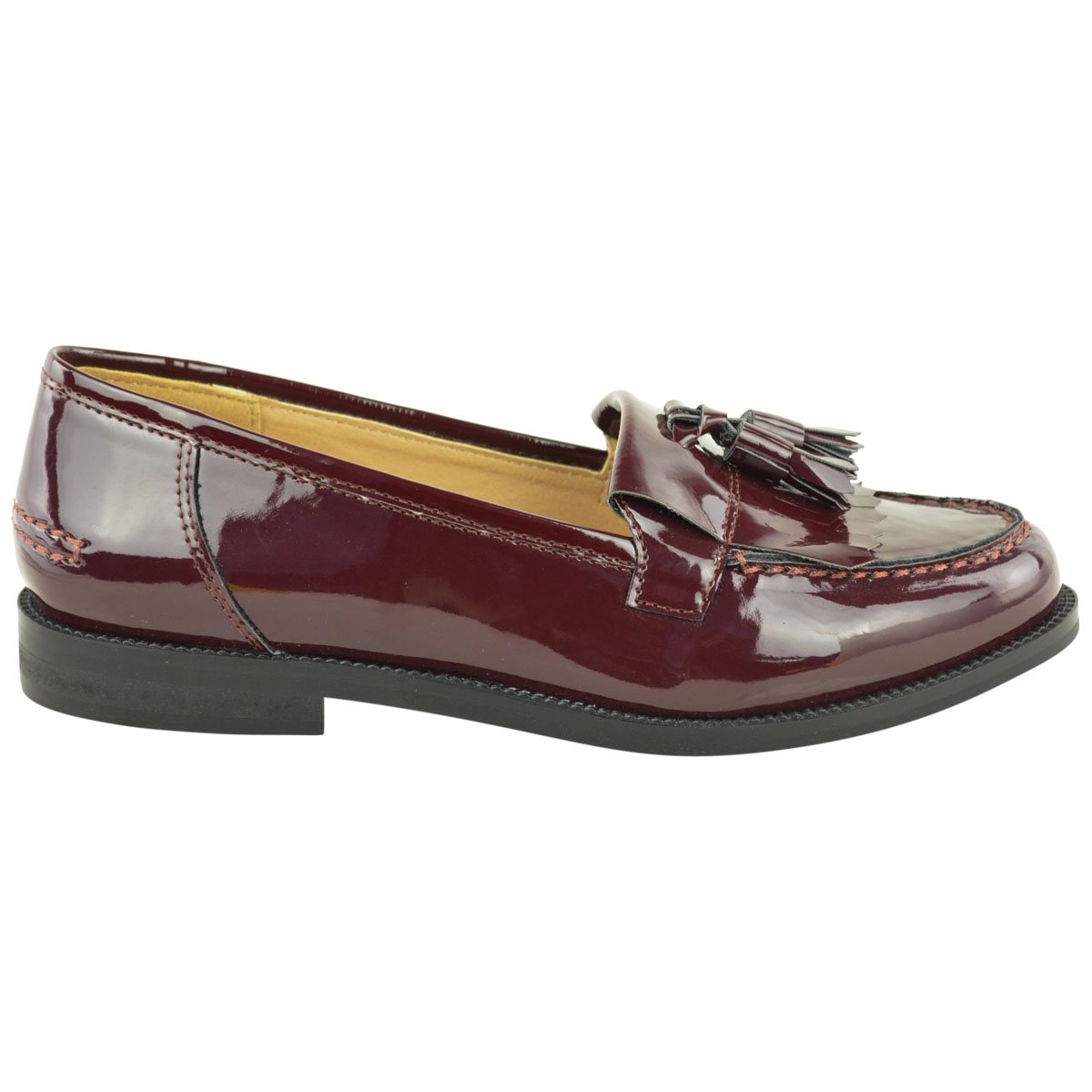 Womens-Ladies-Loafers-Brogues-Pumps-Casual-School-Office-Comfy-Work-Flats-Size thumbnail 35