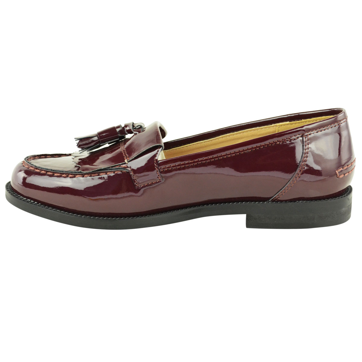 Womens-Ladies-Loafers-Brogues-Pumps-Casual-School-Office-Comfy-Work-Flats-Size thumbnail 36