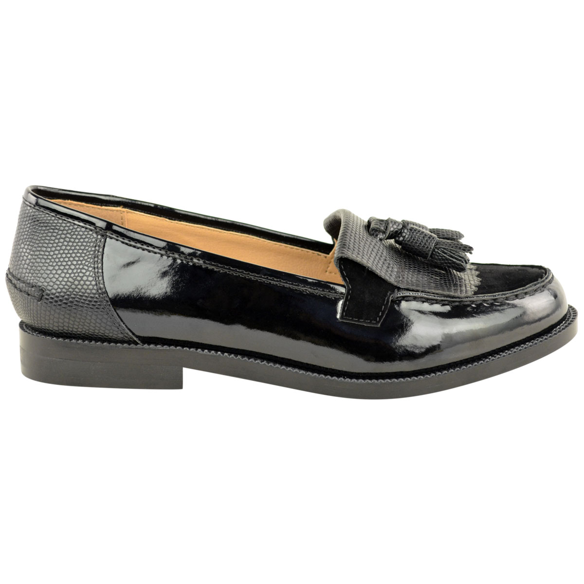Womens-Ladies-Loafers-Brogues-Pumps-Casual-School-Office-Comfy-Work-Flats-Size thumbnail 39