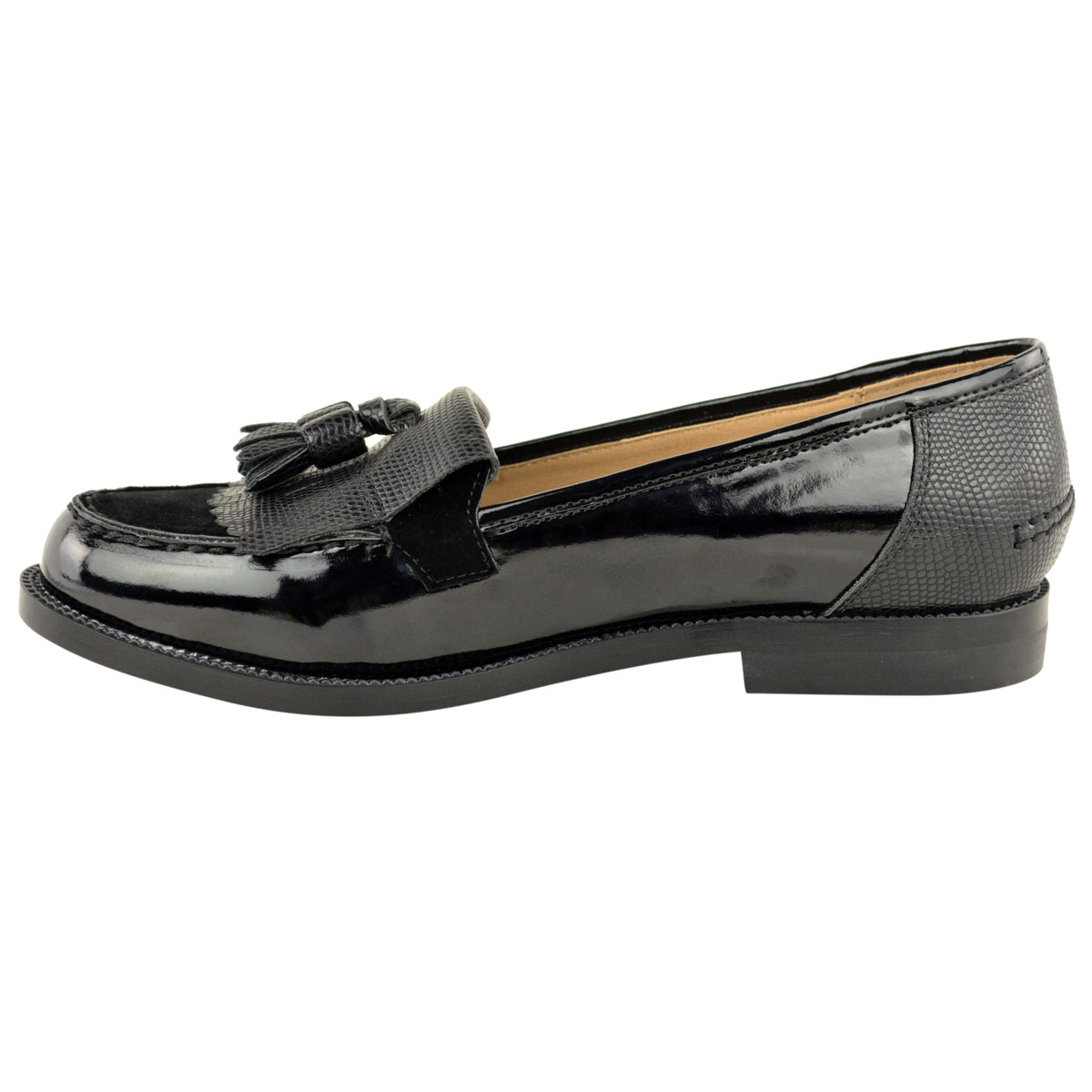 Womens-Ladies-Loafers-Brogues-Pumps-Casual-School-Office-Comfy-Work-Flats-Size thumbnail 40