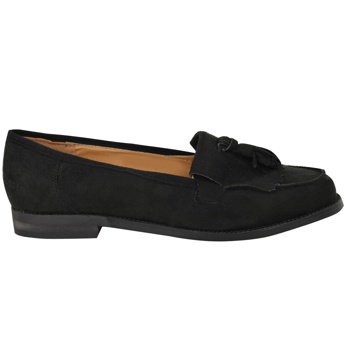 Womens-Ladies-Loafers-Brogues-Pumps-Casual-School-Office-Comfy-Work-Flats-Size thumbnail 31