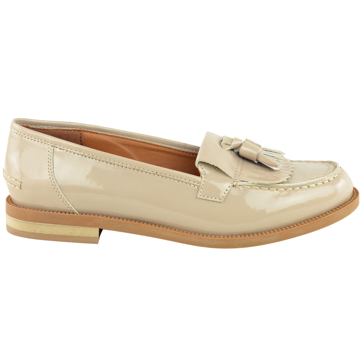 Womens-Ladies-Loafers-Brogues-Pumps-Casual-School-Office-Comfy-Work-Flats-Size thumbnail 23