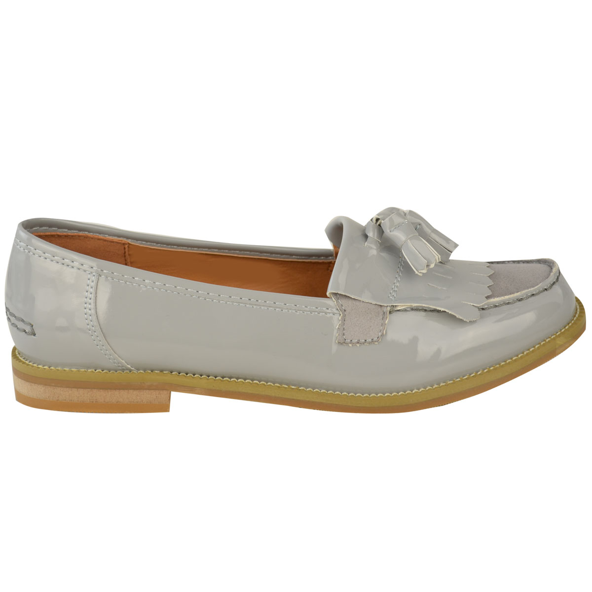 Womens-Ladies-Loafers-Brogues-Pumps-Casual-School-Office-Comfy-Work-Flats-Size thumbnail 19