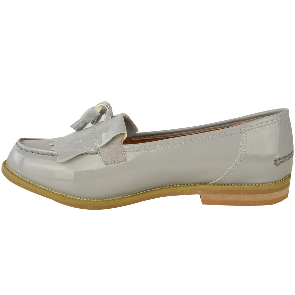 Womens-Ladies-Loafers-Brogues-Pumps-Casual-School-Office-Comfy-Work-Flats-Size thumbnail 20