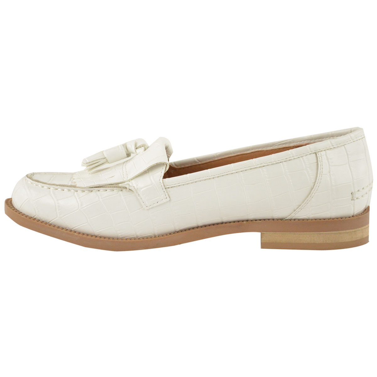 womens office flat casual patent faux leather