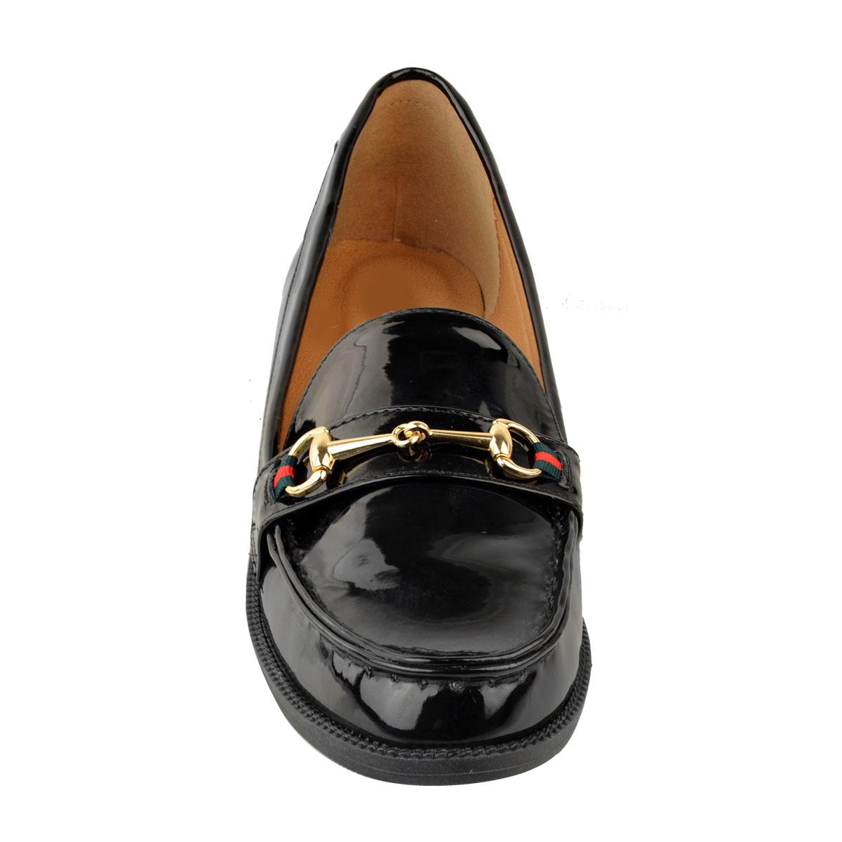 Womens Ladies New Flat Horsebit Loafers School Shoes Designer Smart Office Pumps