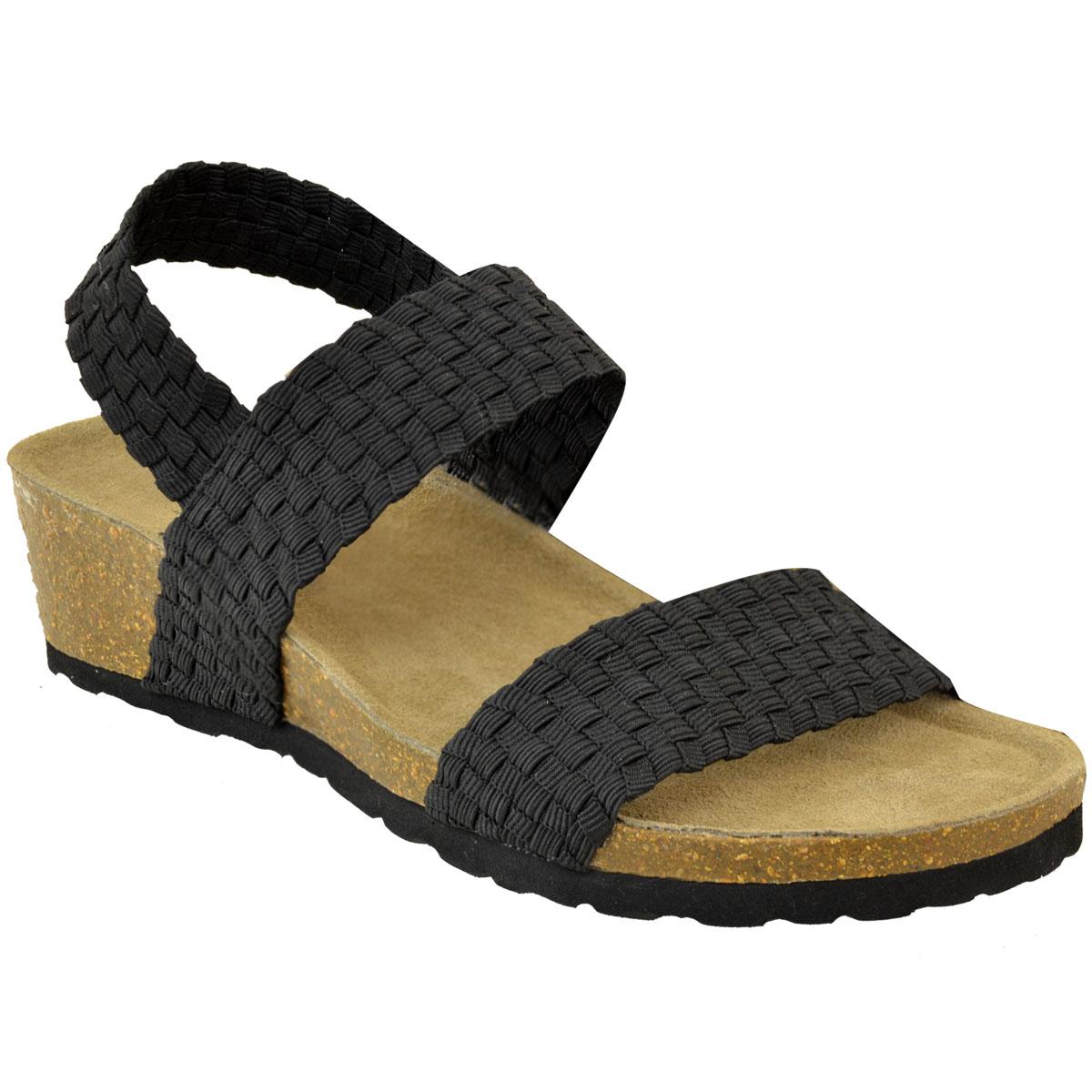 Womens Ladies Low Wedge Heel Sandals