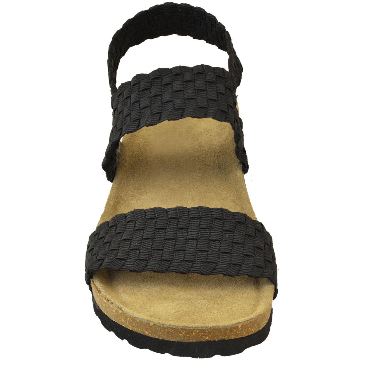 Fit Low Sandals Womens Heel Ladies Wide Stretch Elastic Wedge 8mnw0N