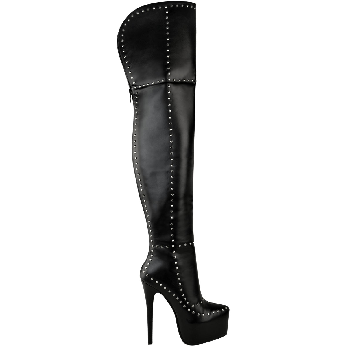 Womens Ladies Studded Platform Sexy Thigh High Knee Boots Stiletto Punk Stretch