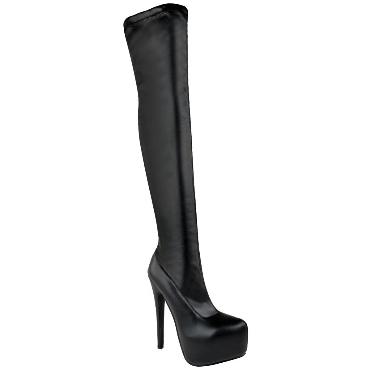 Womens Mens Unisex Over Knee Thigh High Heel Stretch Suede
