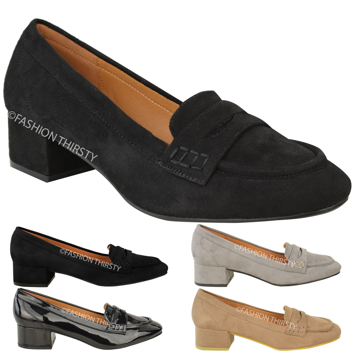 new womens flats loafer school smart casual