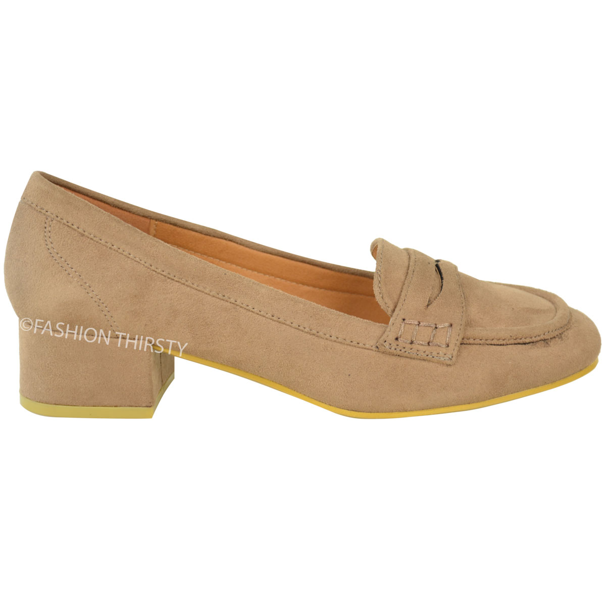 New Womens Ladies Girls Flats Loafer School Smart Casual Work Shoes Pumps Size | EBay