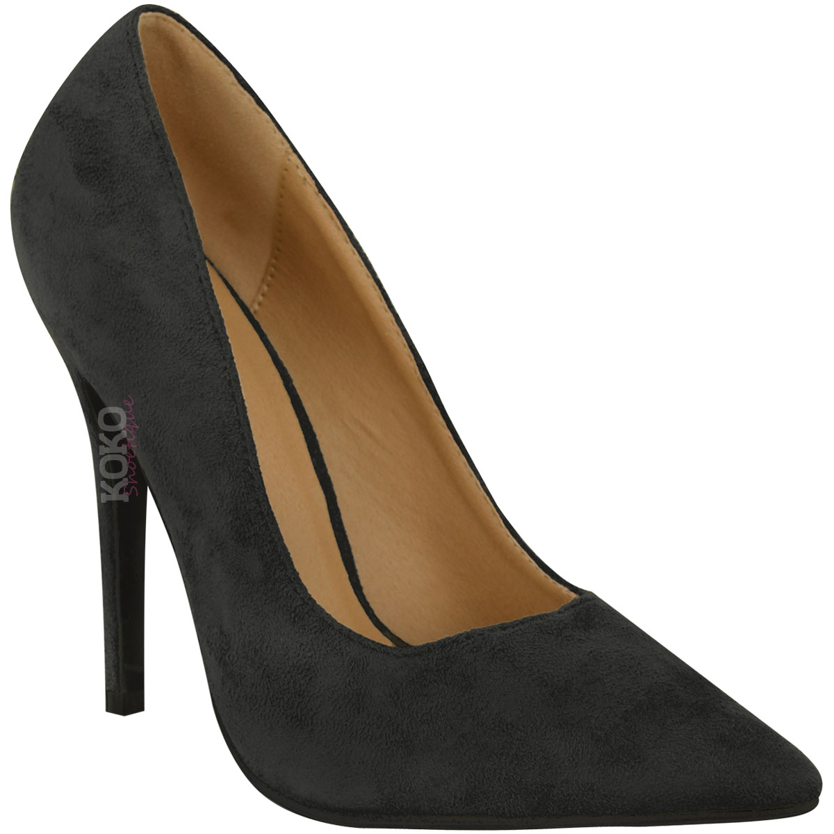 Clothing, Shoes & Accessories Heels Ladies Womens Pointed High Heel Smart Work Party Pumps Court Shoes New Size 3-8
