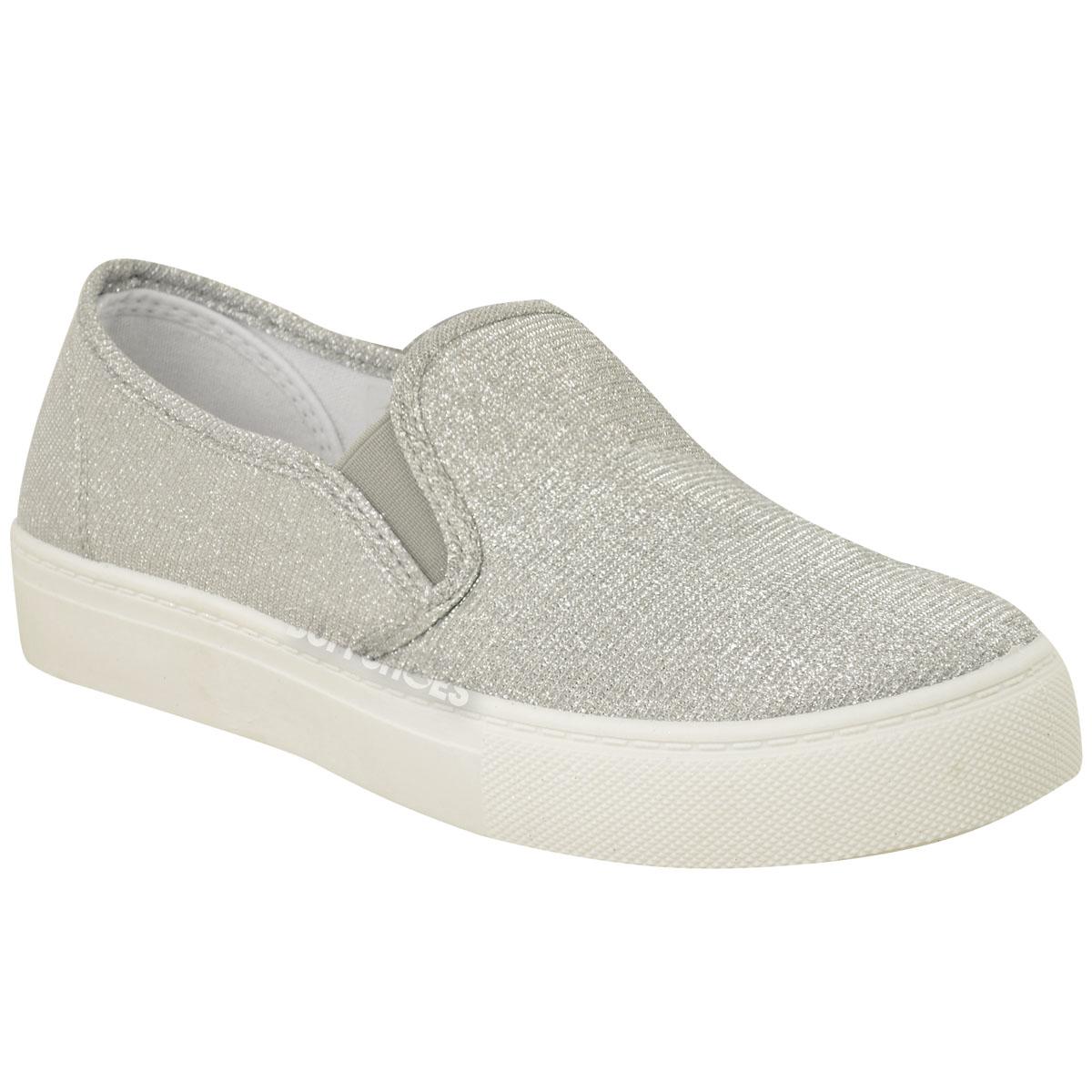 Glitter Slip On Tennis Shoes