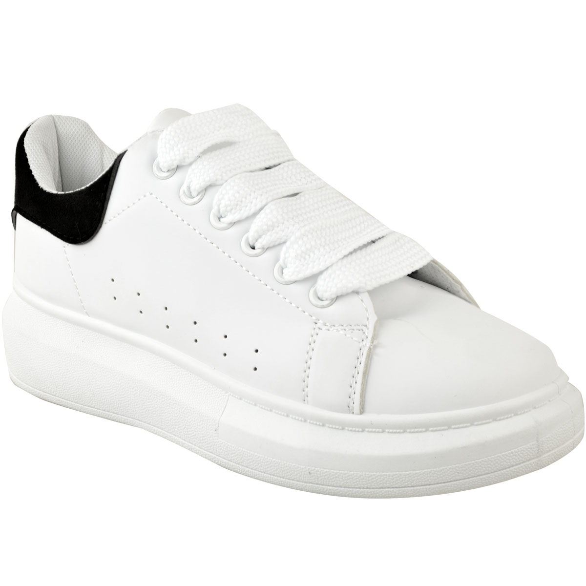 Womens White Oversized Chunky Sneakers