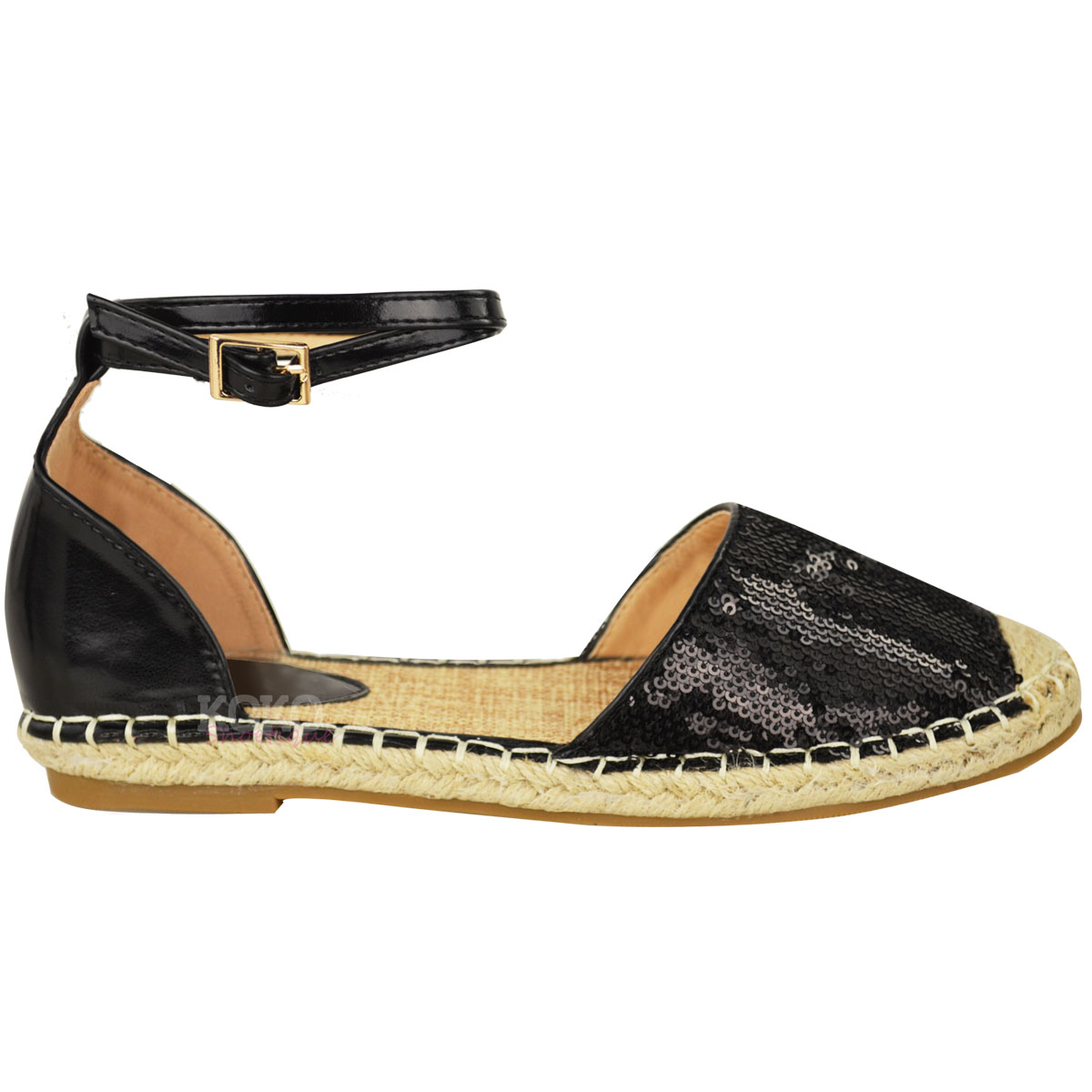 Sandals shoes holidays - New Womens Ladies Summer Espadrilles Sandals Flat Ankle
