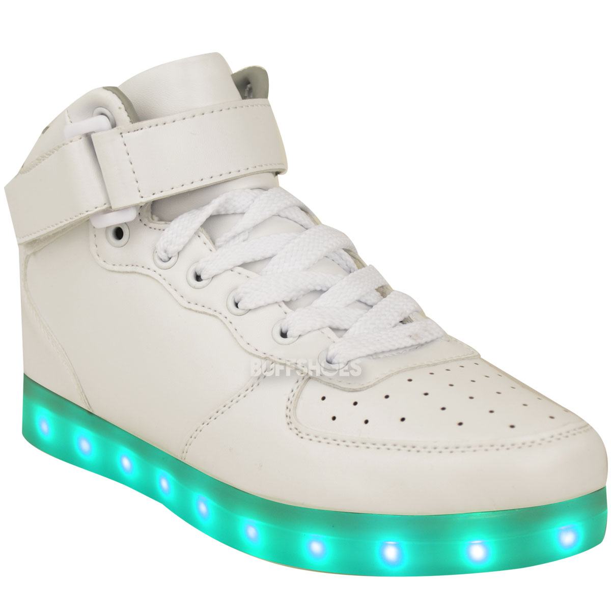 Womens Ladies USB LED Lights Sneakers Shoes Luminous ...