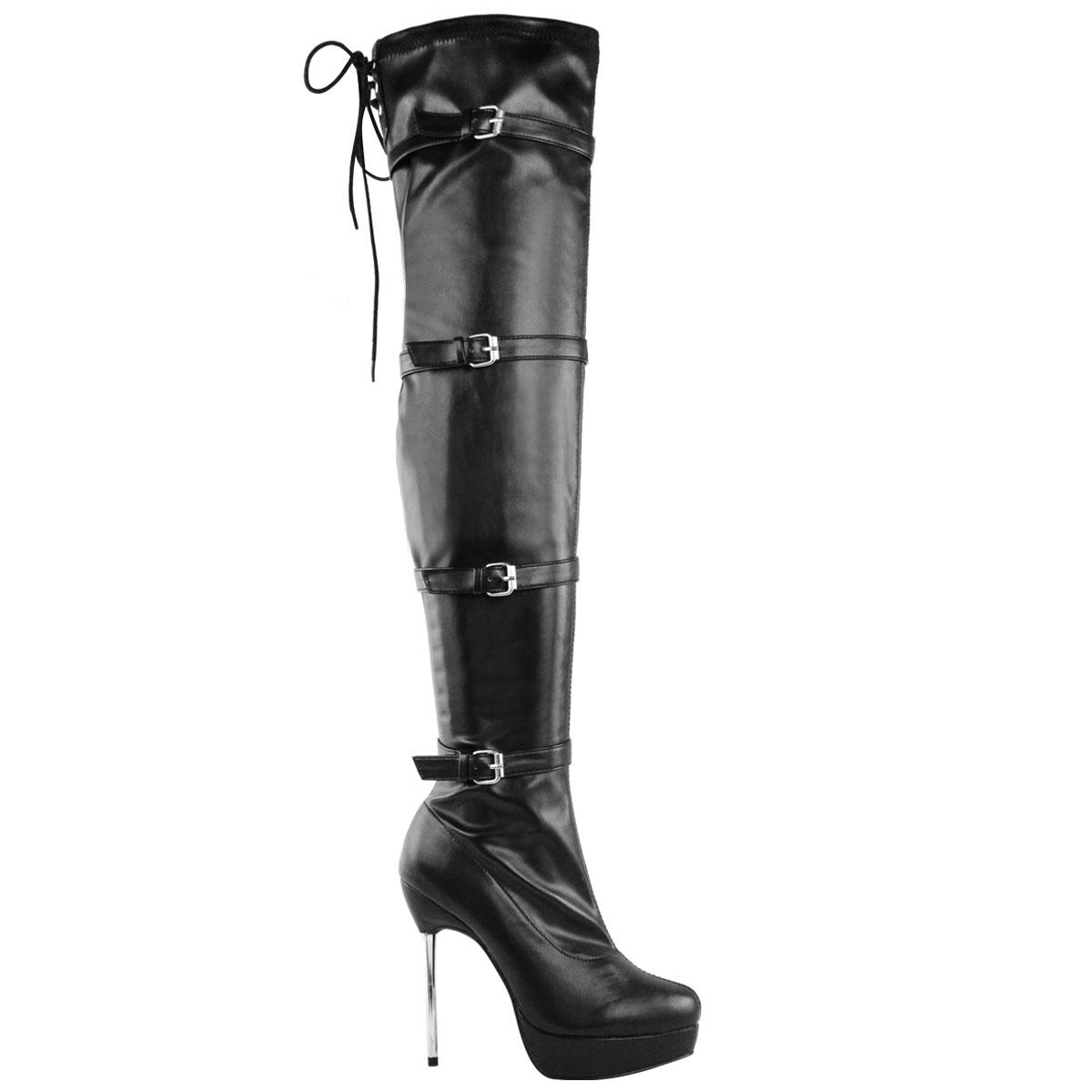 femme a la cuisse cuissardes plateforme talon aiguille bottes chaussures taille ebay. Black Bedroom Furniture Sets. Home Design Ideas