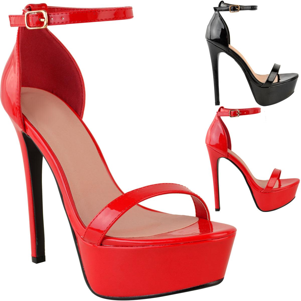 Para-mujeres-Damas-Plataforma-Tacon-Alto-Zapatos-Sandalias-Sexy-de-Fiesta-de-Baile-de-graduacion