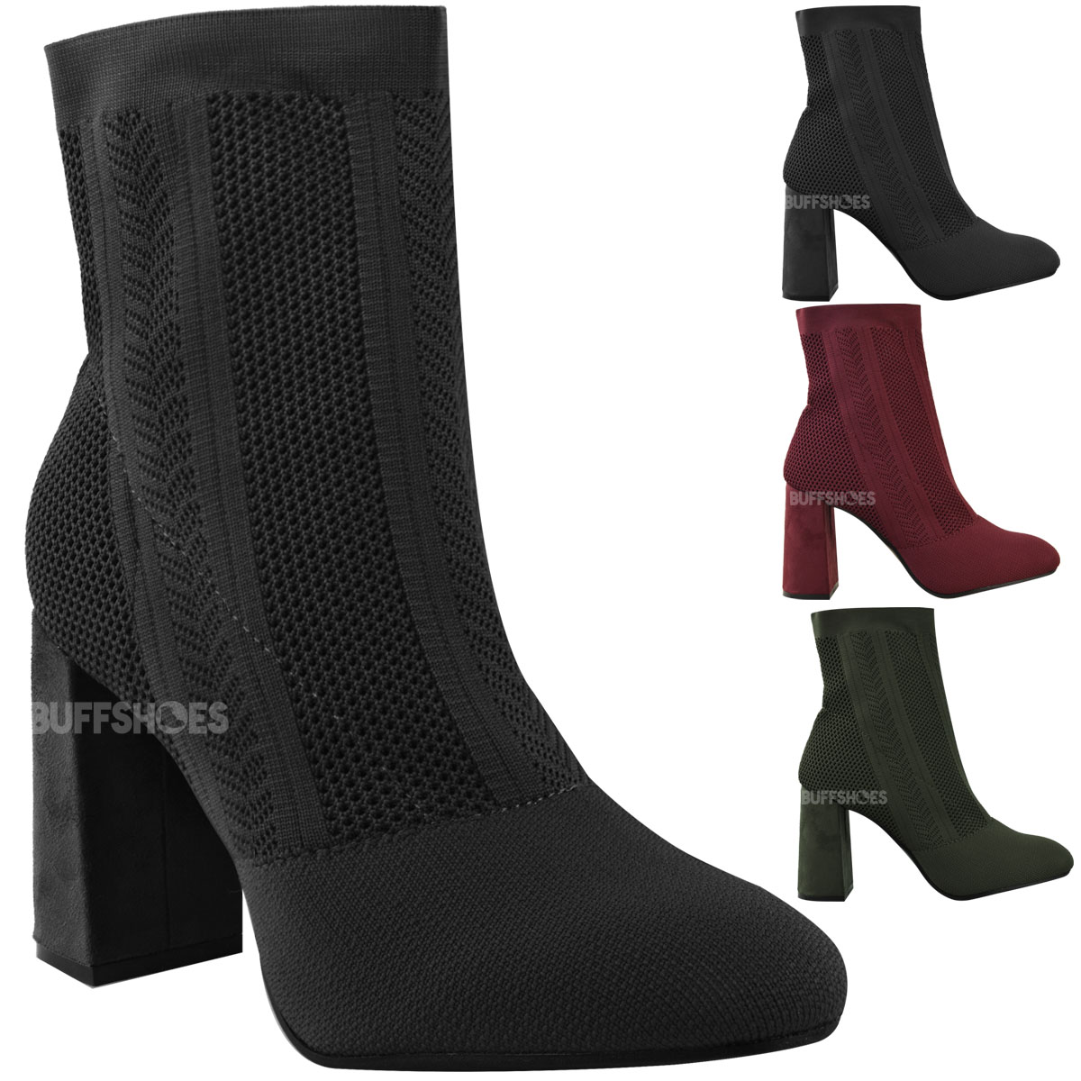Women's Knit Boots Pull On