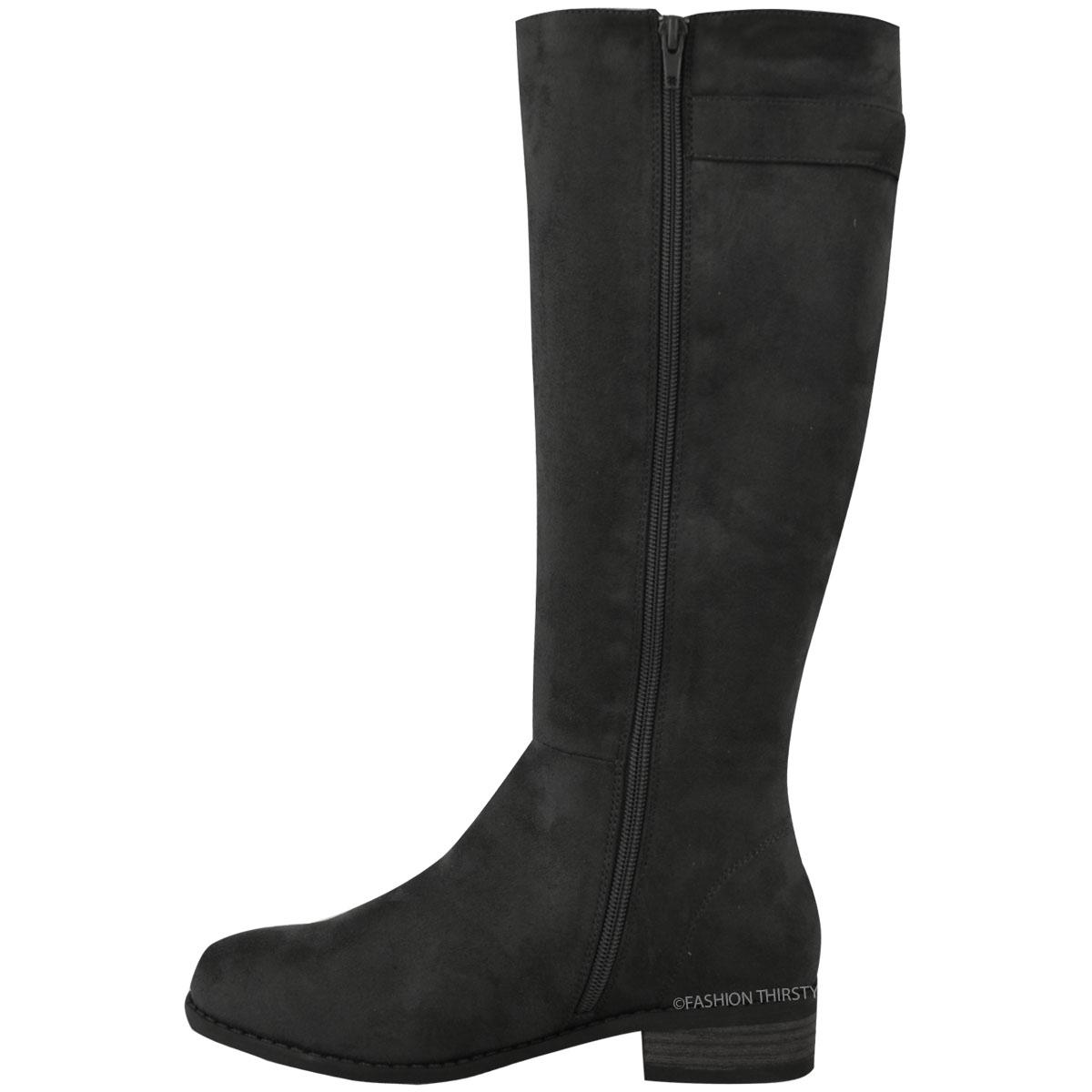 womens knee high tassel boots flat low heel