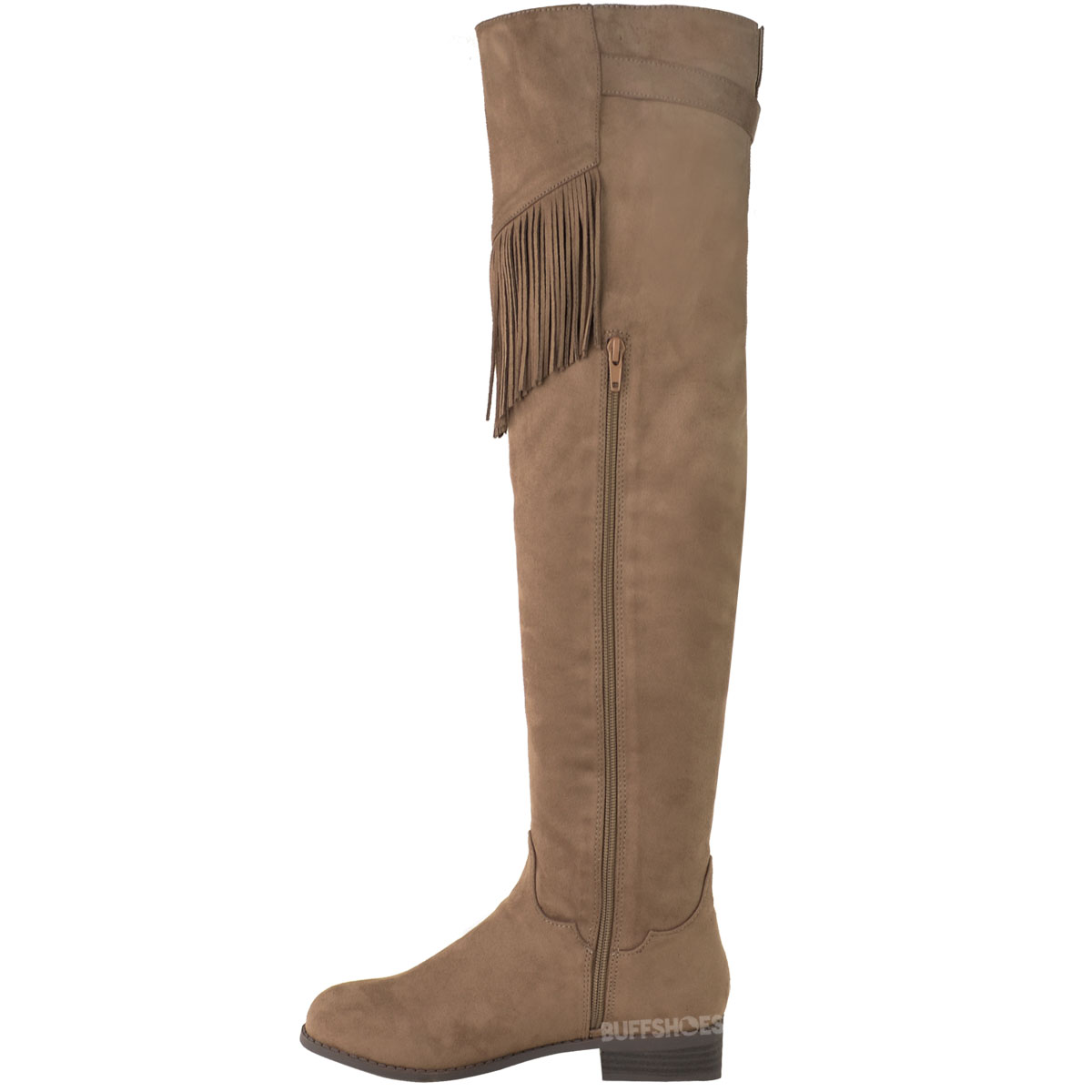 womens ladies over the knee thigh high riding boots flat