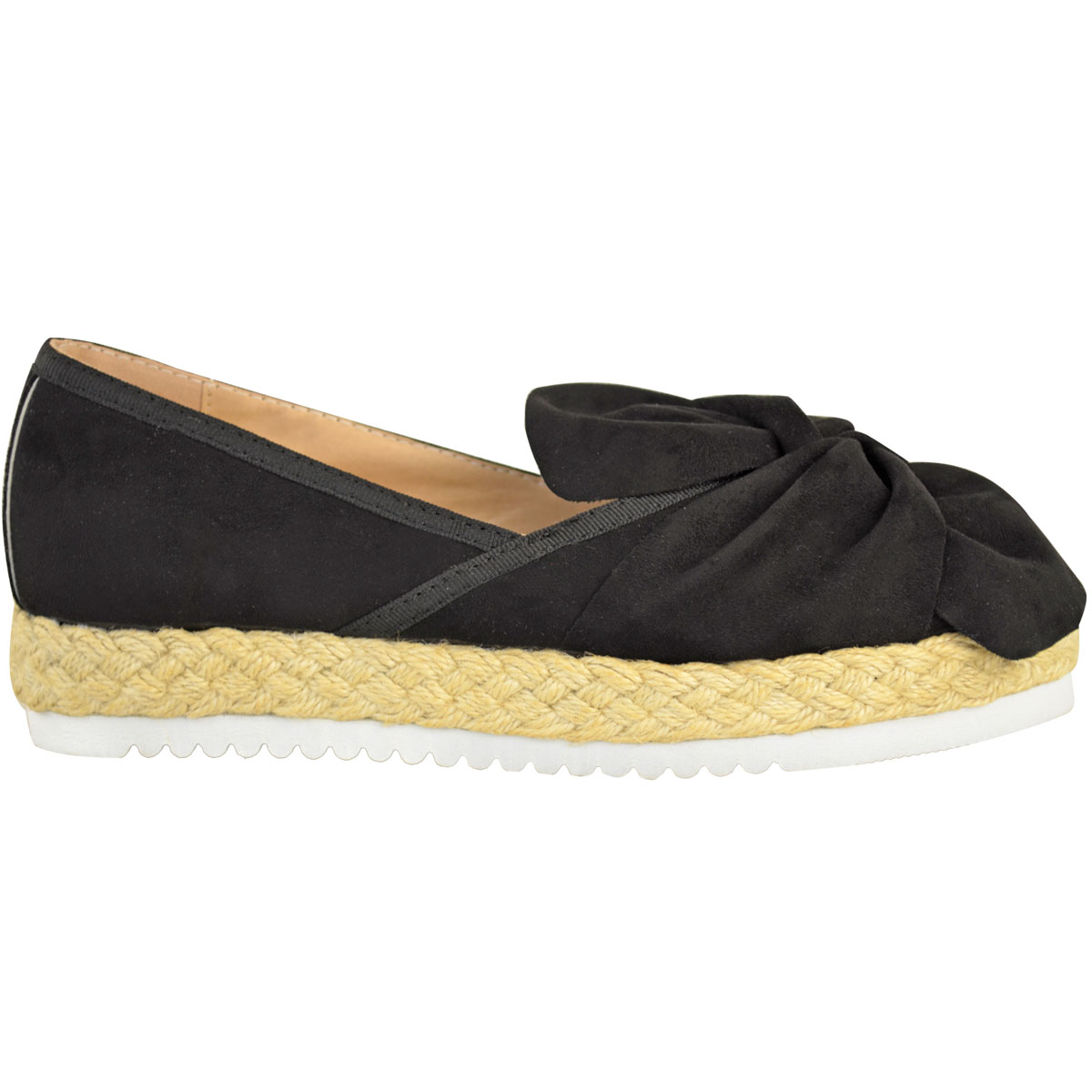 Womens-Ladies-Espadrilles-Flat-Pom-Pom-Sandals-Slip-On-Strappy-Comfy-Size-Shoes thumbnail 35
