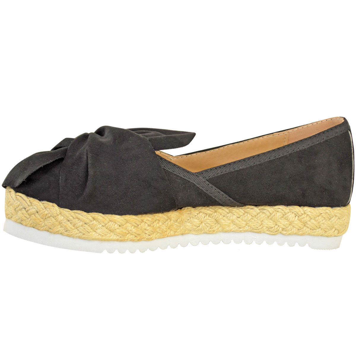 Womens-Ladies-Espadrilles-Flat-Pom-Pom-Sandals-Slip-On-Strappy-Comfy-Size-Shoes thumbnail 36