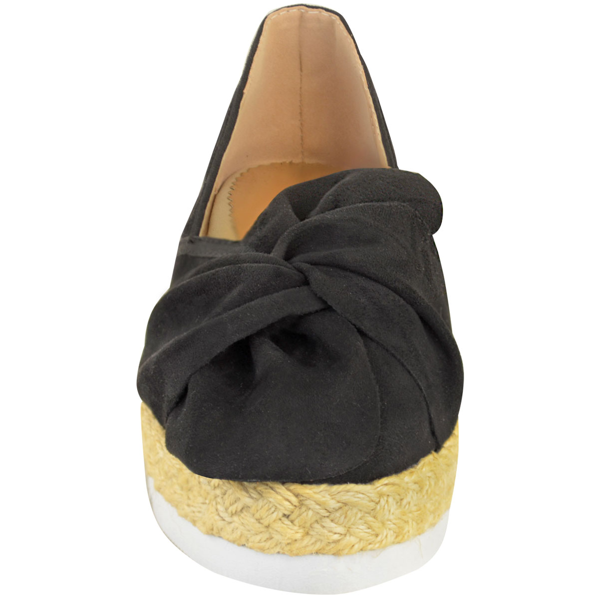 Womens-Ladies-Espadrilles-Flat-Pom-Pom-Sandals-Slip-On-Strappy-Comfy-Size-Shoes thumbnail 37