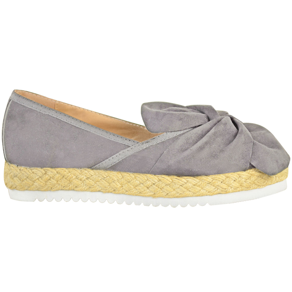 Womens-Ladies-Espadrilles-Flat-Pom-Pom-Sandals-Slip-On-Strappy-Comfy-Size-Shoes thumbnail 39