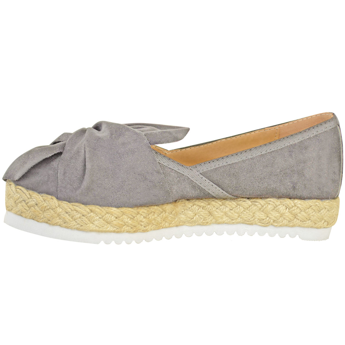 Womens-Ladies-Espadrilles-Flat-Pom-Pom-Sandals-Slip-On-Strappy-Comfy-Size-Shoes thumbnail 40